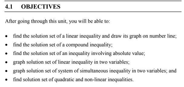 inequalities ignou bca 1st sem tutorial
